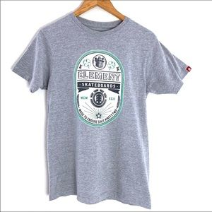 Element Gray Skateboard Tee size Small